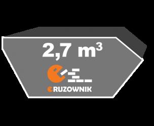 Kontener na gruz - 2,7 m3 - 150 zł