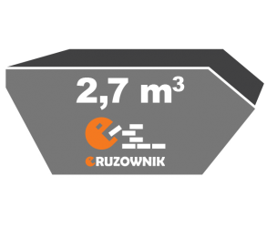 Kontener na gruz - 2,7 m<sup>3</sup> - 150 zł