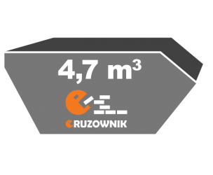 Kontener na gruz - 4,7 m3