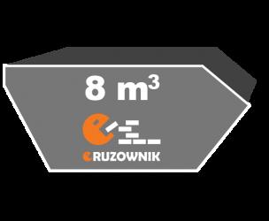 Kontener na gruz - 8 m3 - 410 zł