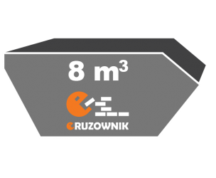 Kontener na gruz - 8 m<sup>3</sup> - 410 zł