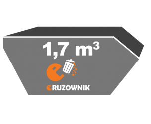 Kontener na śmieci - 1,7 m<sup>3</sup> - 170 zł