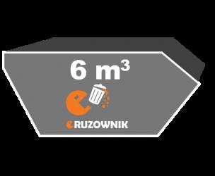 Kontener na śmieci - 6 m3 - 520 zł