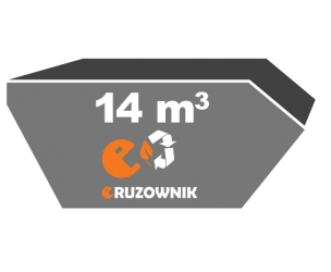 Kontener na odpady zielone - 14 m3 - 870 zł