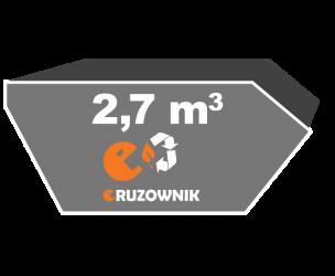 Kontener na odpady zielone - 2,7 m3 - 260 zł