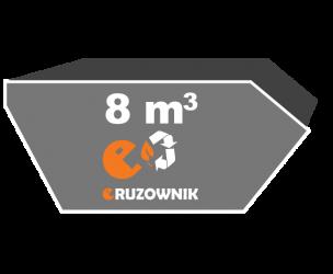 Kontener na odpady zielone - 8 m3 - 540 zł