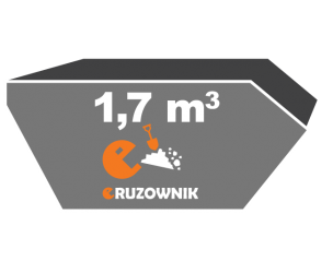 Kontener na ziemię - 1,7 m<sup>3</sup> - 90 zł