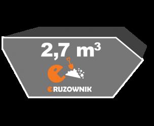Kontener na ziemię - 2,7 m3 - 190 zł